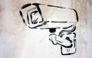 Street Art of CCTV Surveillance